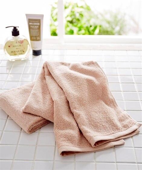 肌ざわりのいい中厚手スリムバスタオル同色2枚セット(デイリー...