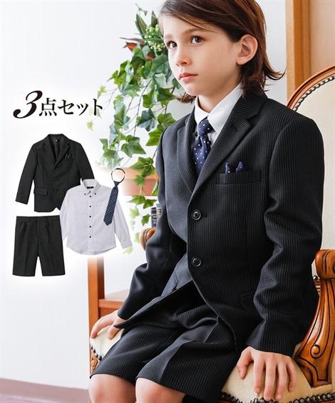 e2e3c5b61f857 - 卒園式・入学式 フォーマルスーツ3点セット(ジャケット+シャツ+5分丈パンツ)(男の子 子供服)
